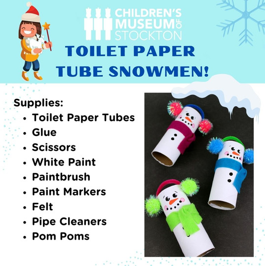 Toilet Paper Tube Snowmen! (Complete)CDM