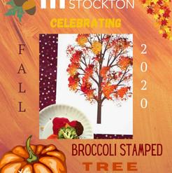 Broccoli Stamped Tree