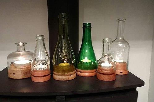 Wine and Beer Bottle Storm Lanterns