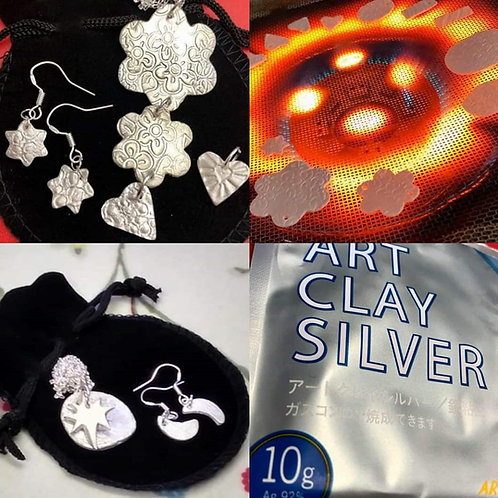Silver Clay Workshop in Whitley Bay