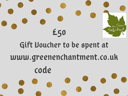 Green Enchantment £50 Gift Vouchers