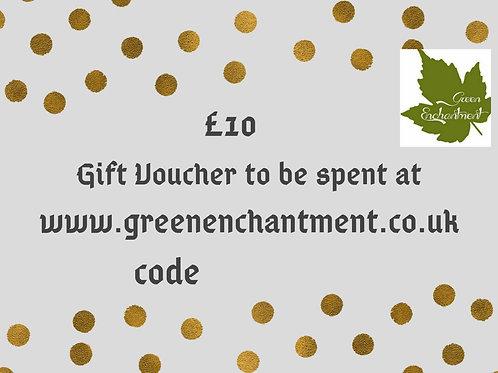 Green Enchantment £10 Gift Vouchers