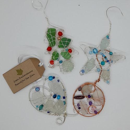 Festive Seaglass Workshop in Whitley Bay
