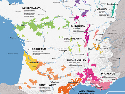 Map of the Terroirs of France