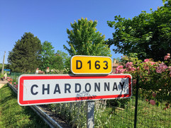 Sign Showing the Entrance to the Village of Chardonnay
