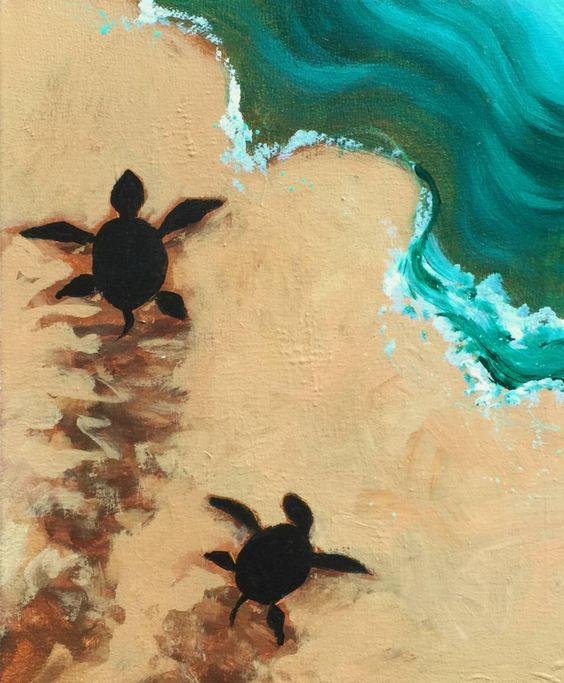 Sea Turtle Escape