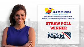 Amanda Makki Wins Back-to-Back Polls –St. Petersburg Chamber of Commerce Straw Poll!