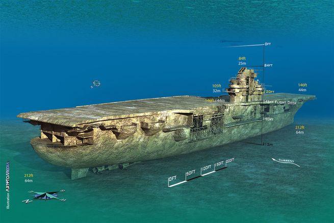 Diving the USS Oriskany on 10/23/21