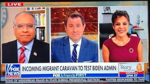 Fox News discussing the caravan of migrants on our southern border that Biden encouraged
