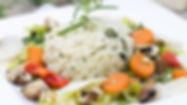 Reis mit geröstetem Gemüse