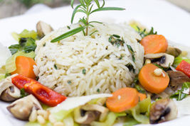Jasmine Rice with Roasted  Vegetables