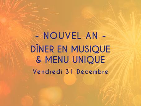 🎆 NOUVEL AN - Duo Margaux & François - Menu Unique