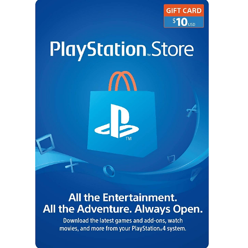 PlayStation Network Gift Card 10$ - Digital Code