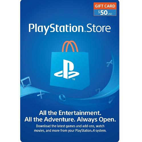 PlayStation Network Gift Card 50$ - Digital Code