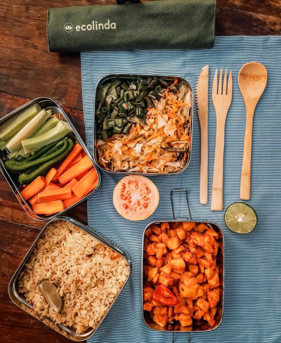 EcoLinda nachhaltige Lunchboxen Edelstahl