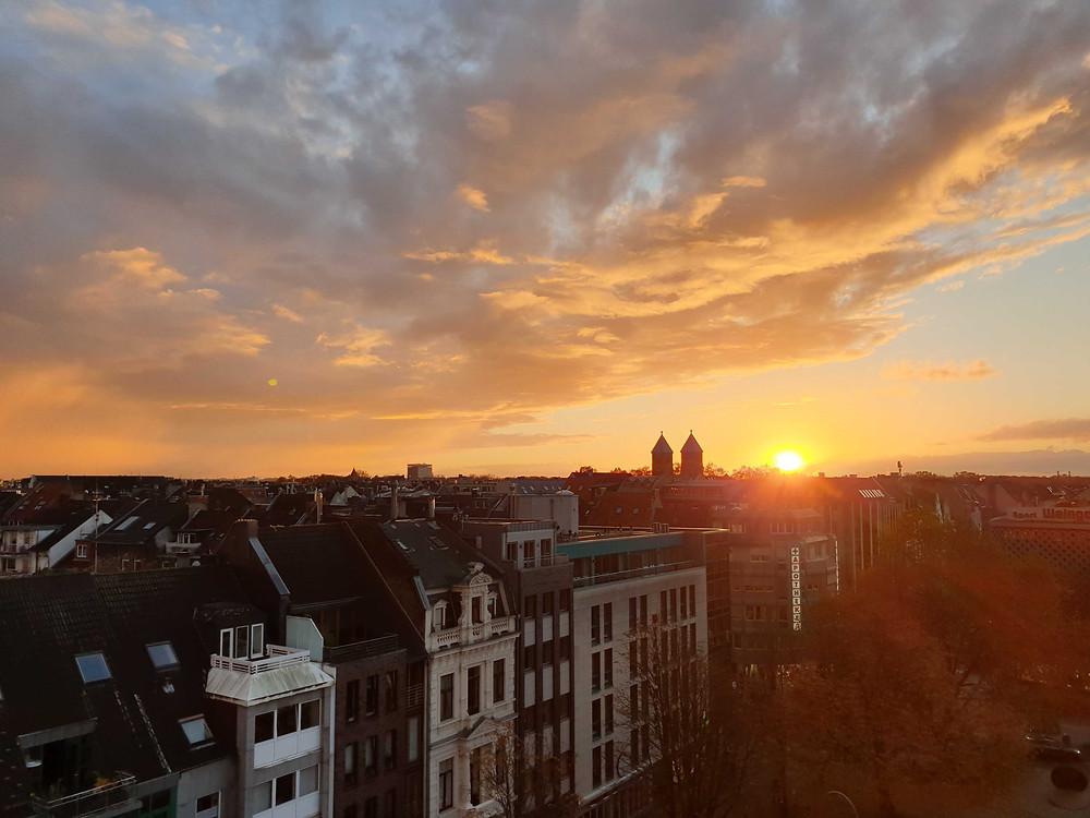 Sonnenuntergang wework Köln