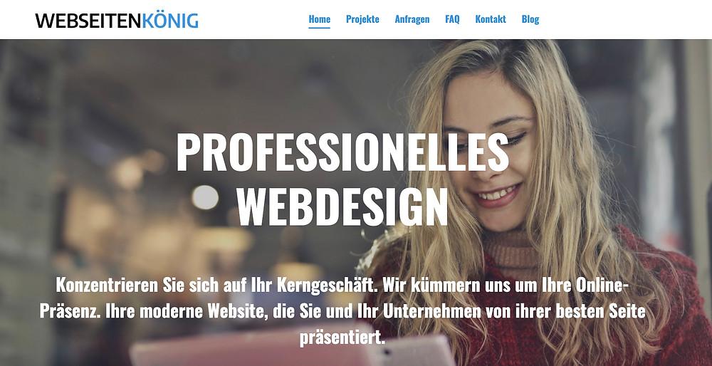 Webdesigner Webseite
