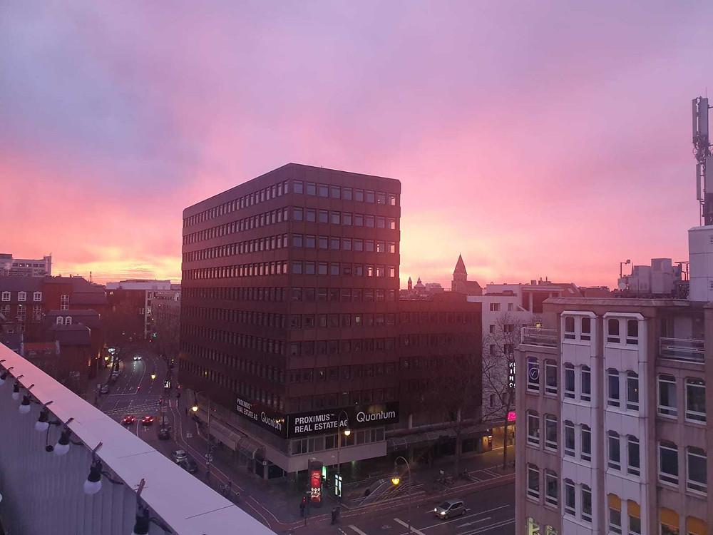 Sonnenaufgang WeWork Köln