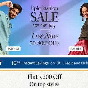 UPTO 90% SALE- Myntra, Flipkart, Adidas, Reebok and many more!