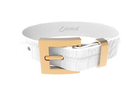 WHITE CROCO BELT