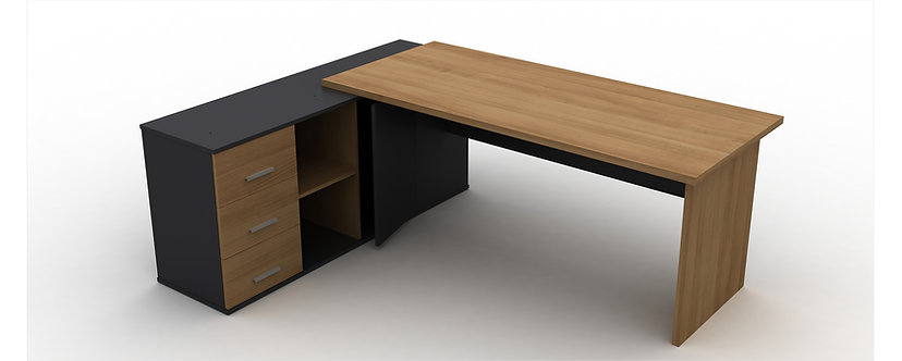 Office Desk Wood with Side Storage