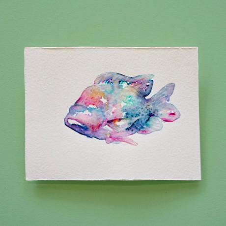 poisson 1 - aquarelle