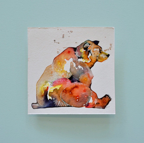 ours 2 - aquarelle