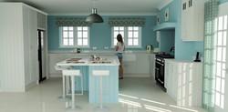 Solid Ash Wood Kitchen