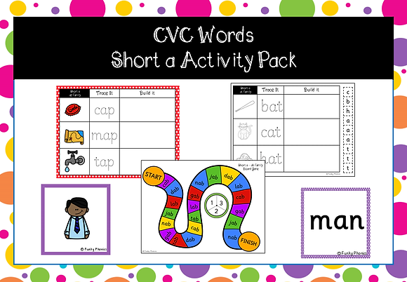 CVC Words - short a activity pack
