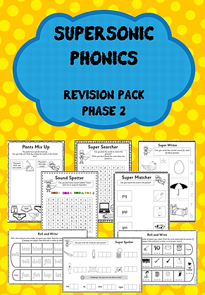 Phase 2 - Supersonic Phonics Revision Pack