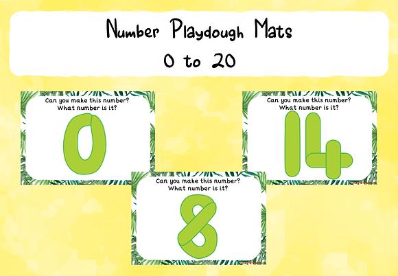 Playdough Number Mats: 0-20