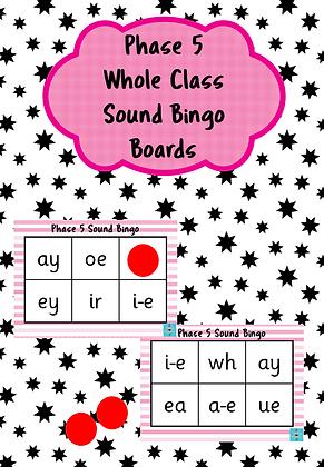 Phase 5 - Whole Class Sounds Bingo
