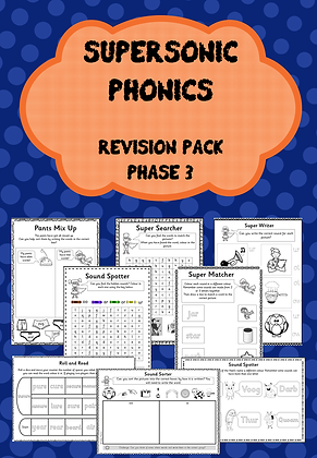 Phase 3 - Supersonic Phonics Revision Pack