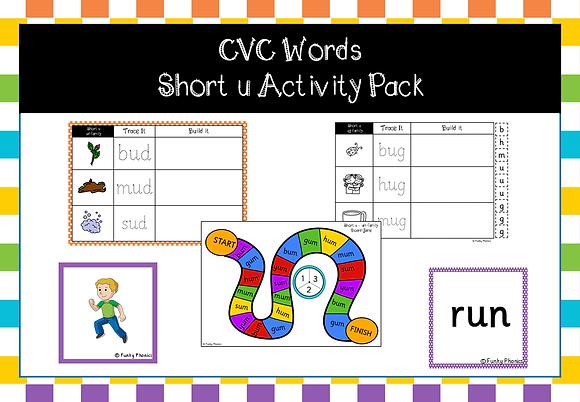 CVC Words - short u activity pack