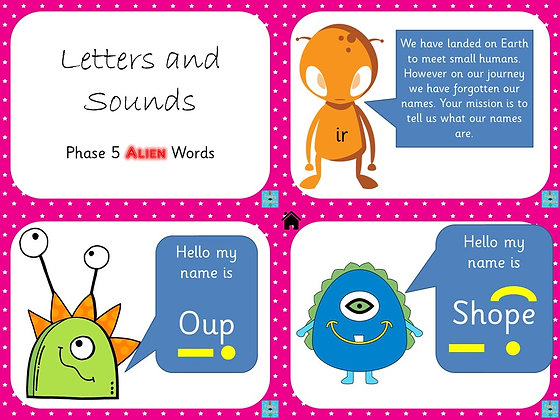 Phonics Screening - Phase 5 Alien Words PowerPoint