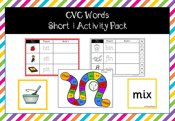CVC Words - short i activity pack