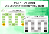 Phase 4 CCV and CCVC words using Phase 3