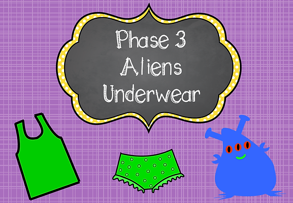 Phonics Screening - Phase 3 Aliens Underwear