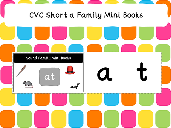 CVC Short a Family Mini Books