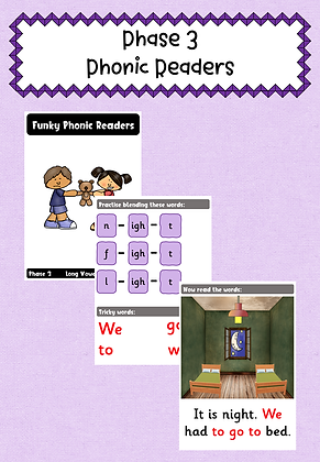 Phase 3 Phonics Readers