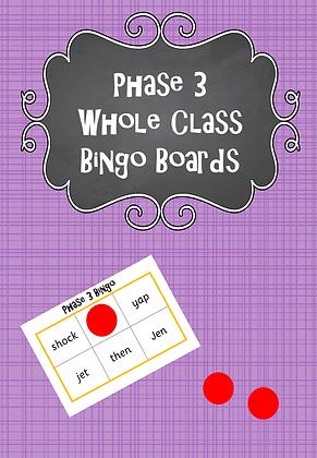Phase 3 - Whole Class Bingo