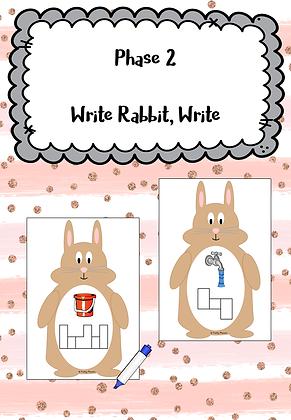 Easter/Spring Themed - Phase 2 Write Rabbit, Write