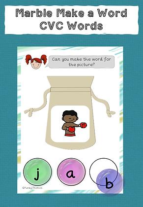 Marble Make a Word - CVC Words