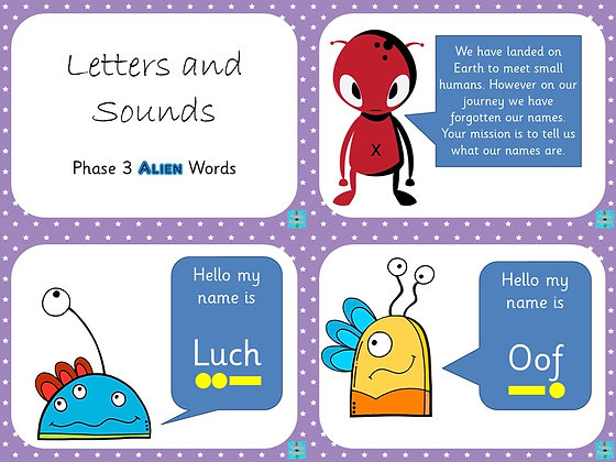Phonics Screening - Phase 3 Alien Words PowerPoint