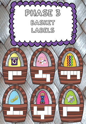 Easter/Spring Themed - Phase 3 Basket Labels