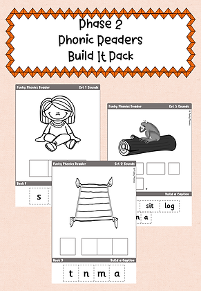 Phase 2 Phonic Readers - Build It Pack