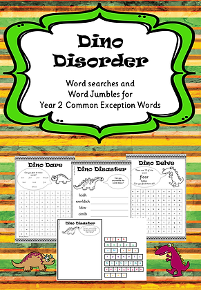 Year 2 Common Exception Words - Word Searches and Word Jumbles