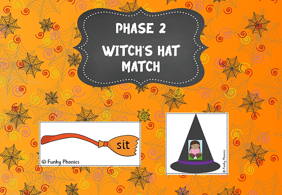 Halloween Themed - Phase 2 Witches Hat Match