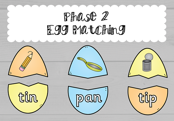 Easter/Spring Themed - Phase 2 Egg Matching