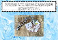 Number and Shape Flashcards for Lanyards
